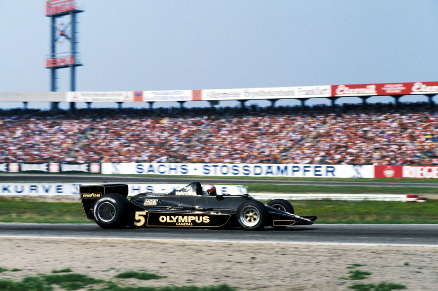 Mario Andretti takes the race win for Lotus