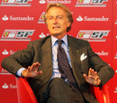 Ferrari president Luca di Montezemolo talks to the press