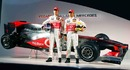 Jenson Button and Lewis Hamilton unveil the McLaren MP4/25