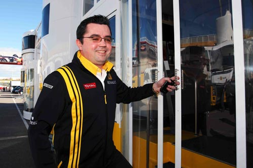 New Renault team principal Eric Boullier arrives in Valencia