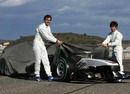 Pedro De La Rosa and Kamui Kobayashi unveil the new BMW Sauber C29