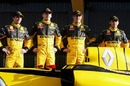 Jerome d'Ambrosio, Robert Kubica, Vitaly Petrov and Ho-Ping Tung