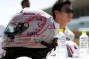 Kamui Kobayashi's special Japanese Grand Prix helmet