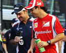 Rubens Barrichello and Felipe Massa on the grid