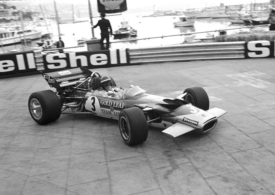 Jochen Rindt passes the harbour on his way to victory