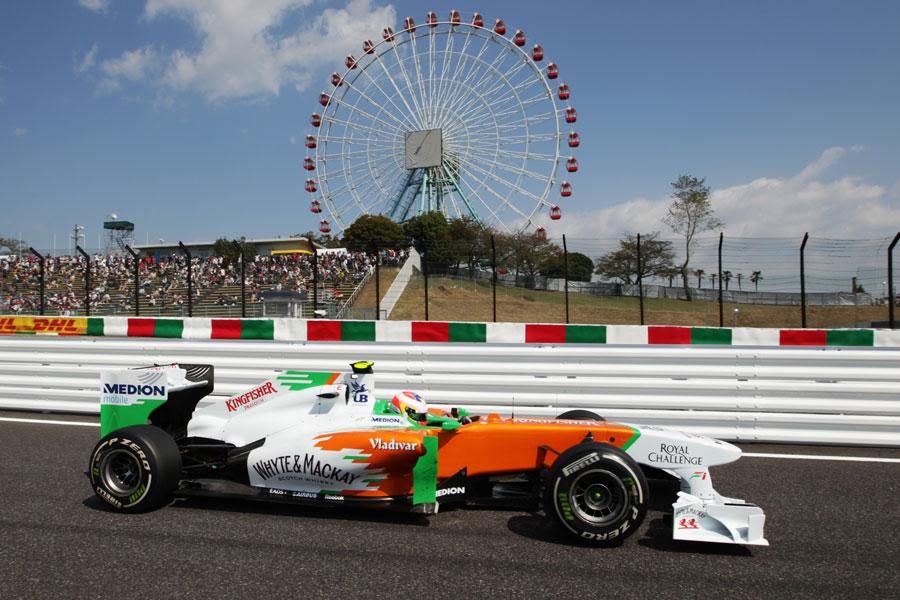 Paul di Resta leaves the pit lane