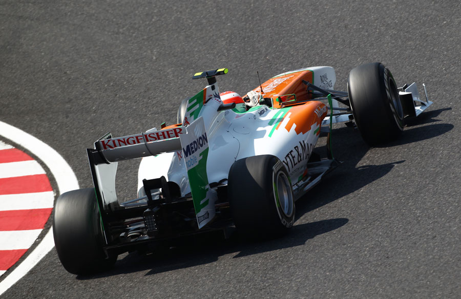 Paul di Resta after clipping the apex