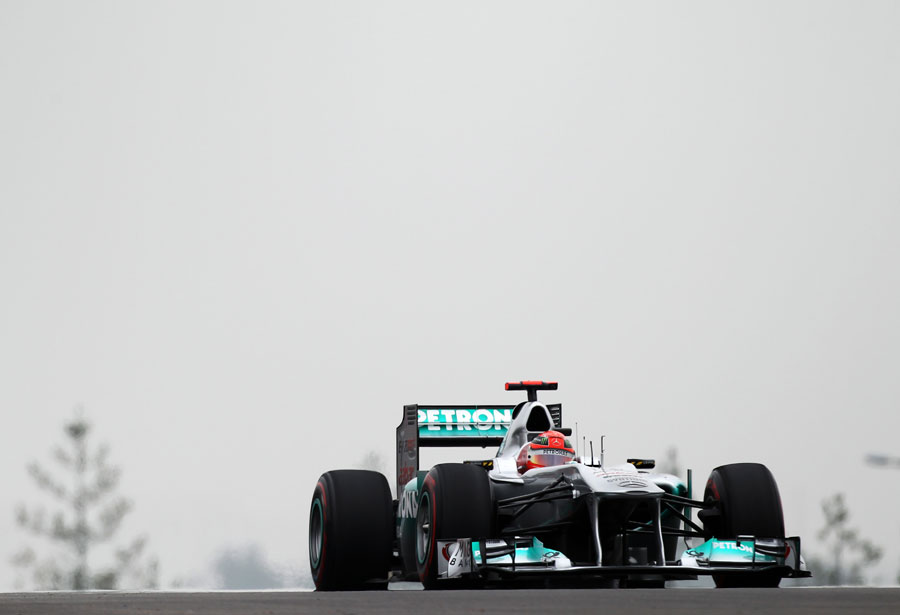 Michael Schumacher on a soft tyre run