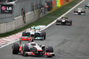 Jenson Button leads Nico Rosberg