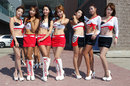 Grid girls in Yeongam