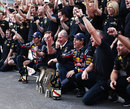 Red Bull celebrates after securing the constructors' championship