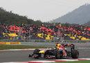 Sebastian Vettel enjoys a clear lead