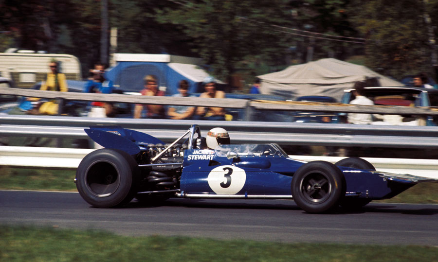 Jackie Stewart debuts the new Tyrrell 001