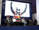 David Coulthard interviews Sebastian Vettel, Adrian Newey and Christian Horner at the Red Bull factory