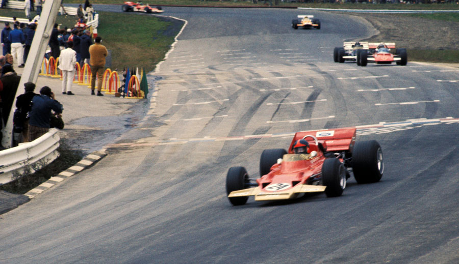 Emerson Fittipaldi on his way to victory