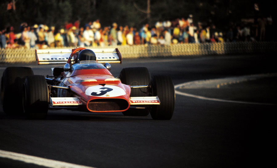 Jacky Ickx enjoys a comfortable lead on his way to victory