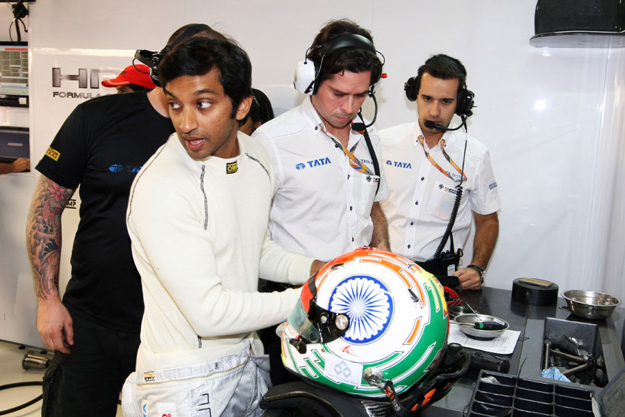 Narain Karthikeyan prepares for action