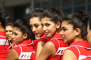 Grid girls pose at the Buddh circuit