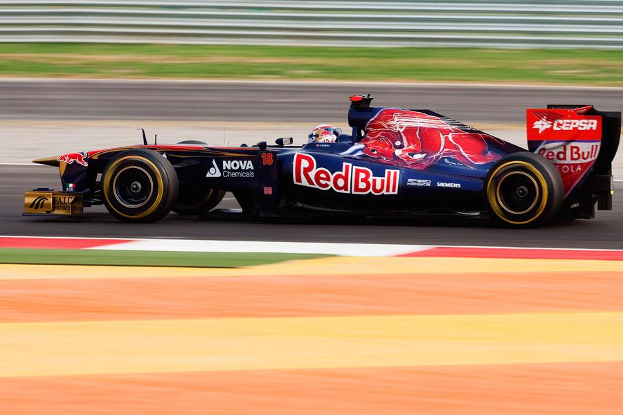 Sebastien Buemi at speed during qualifying