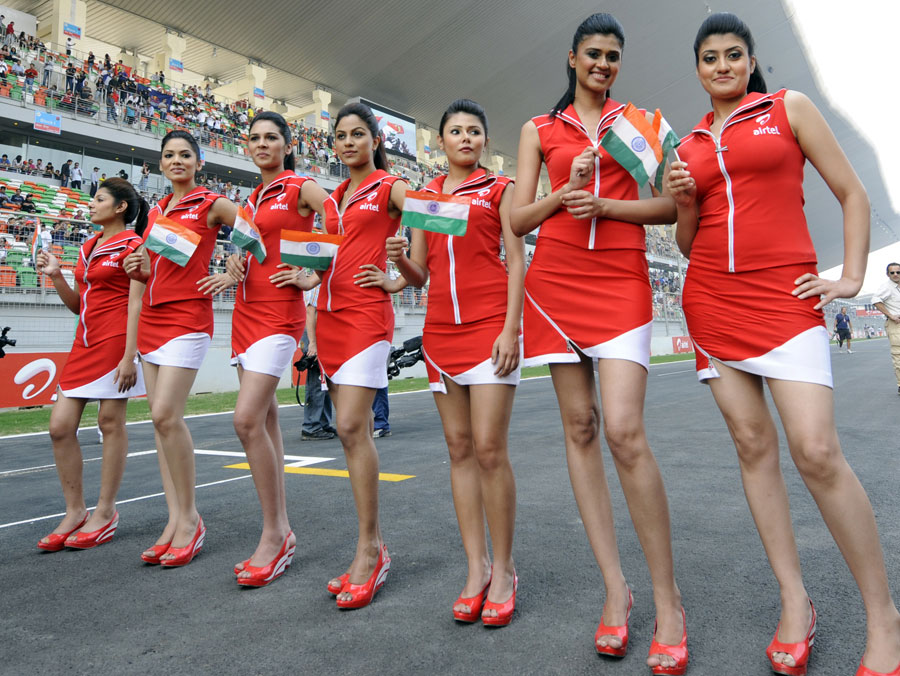 Indian Grand Prix grid girls