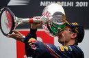 Sebastian Vettel tastes victory