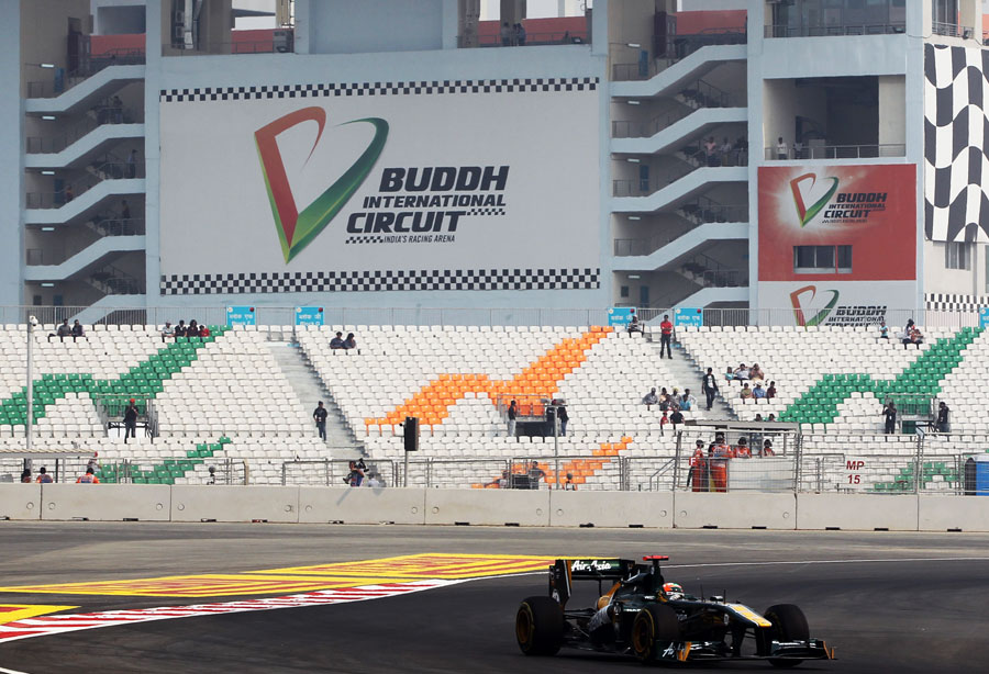 Karun Chandhok on track in first practice