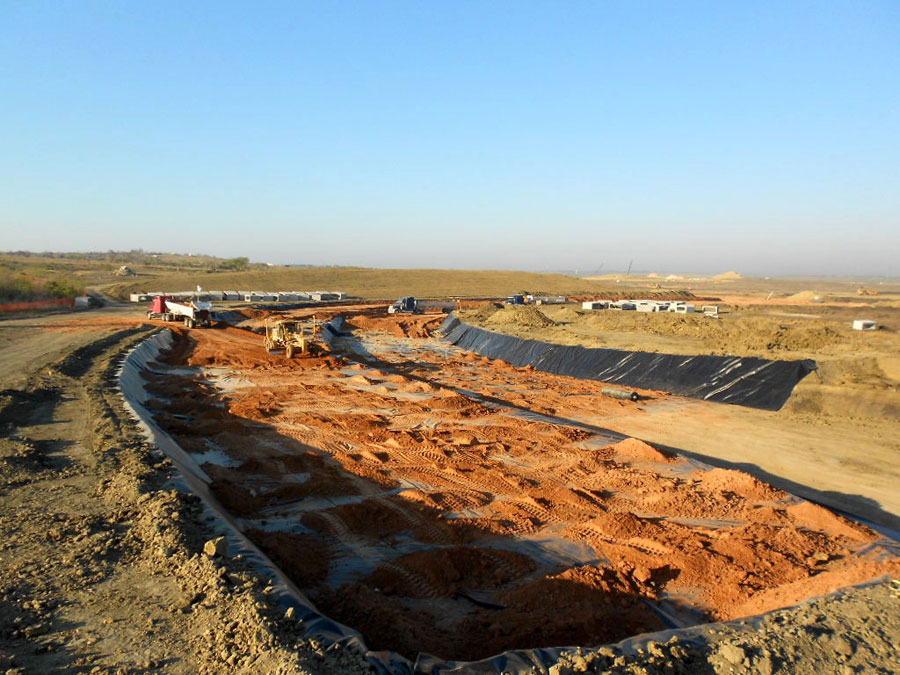 Turn 7 as construction work continues at the Circuit of the Americas