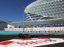 Romain Grosjean rounds turn 17 by the Yas Hotel