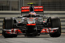 Jenson Button wrestles his McLaren through the slow-speed corners