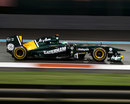 Heikki Kovalainen on track in the Lotus
