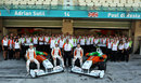 Force India pose for a team shot on Sunday morning