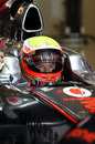 Oliver Turvey prepares for a run in the MP4-26