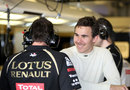 Robert Wickens in the Renault garage