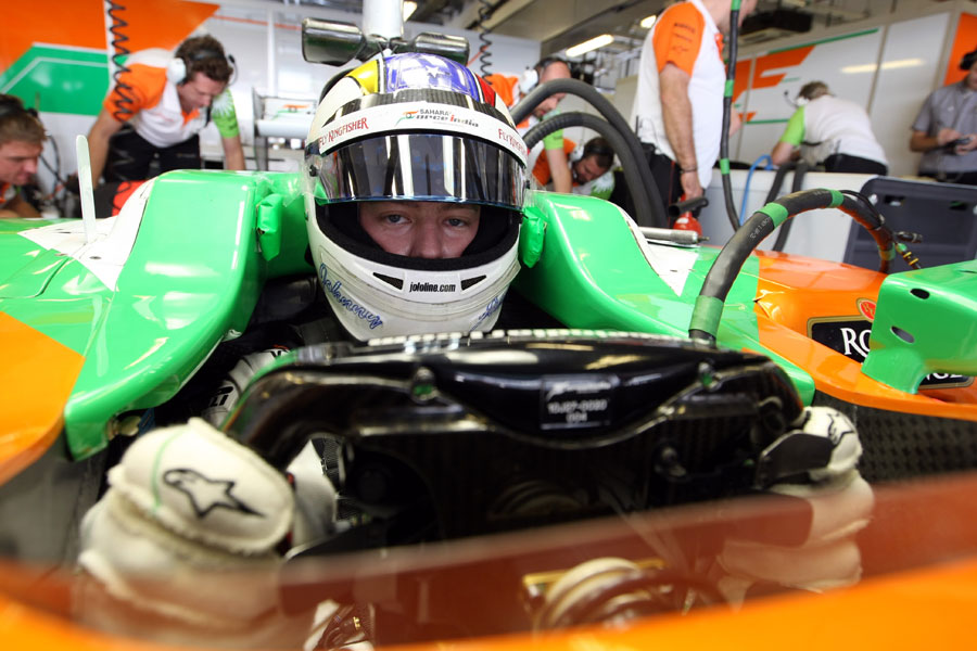 Johnny Cecotto Jnr in the cockpit of the Force India