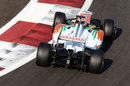 Johnny Cecotto Jnr balances the Force India mid corner
