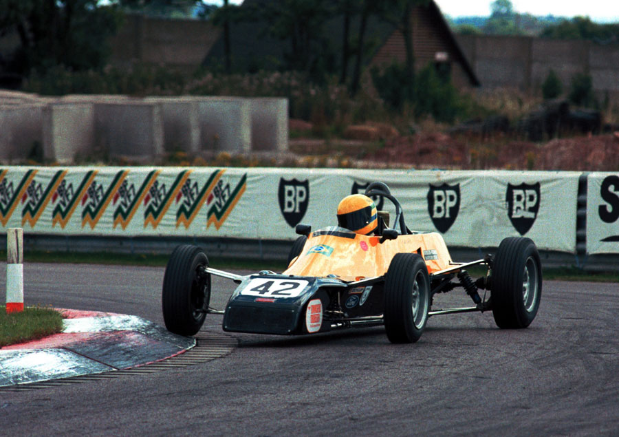 Ayrton Senna negotiates the chicane on his way to victory