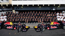 The Red Bull team poses for an end of season photo