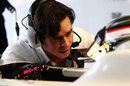 HRT engineer Richard Connell talks new boy Jan Charouz through his FP1 programme