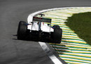 Kamui Kobayashi gets the power down in the Sauber