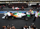 Force India hijacks the McLaren team photograph