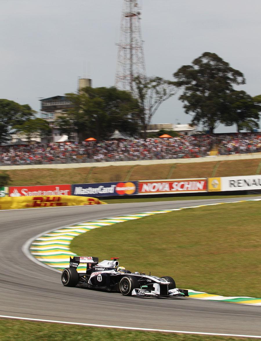 Rubens Barrichello tackles his home circuit