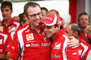 Stefano Domenicali cuts a relaxed figure alongside Felipe Massa