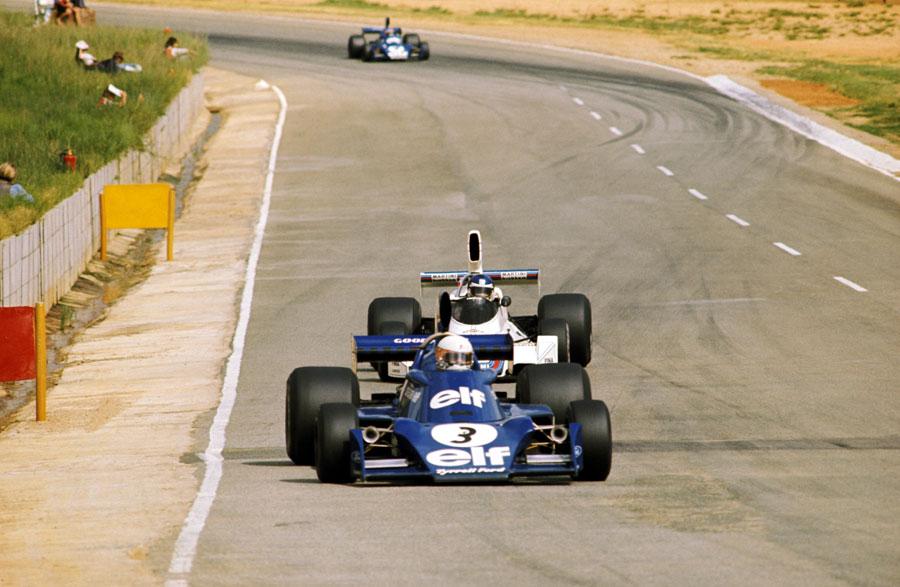 Jody Scheckter leads Carlos Reutemann