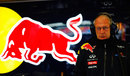 Helmut Marko in the Red Bull garage