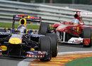 Sebastian Vettel leads Fernando Alonso