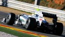 Nico Rosberg takes the Mercedes on its first outing