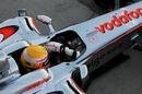 Lewis Hamilton heads back onto the circuit