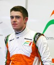 Paul di Resta relaxes in the Force India garage