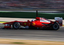 Fernando Alonso on the pace in his Ferrari