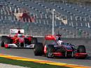 Jenson Button leads Fernando Alonso